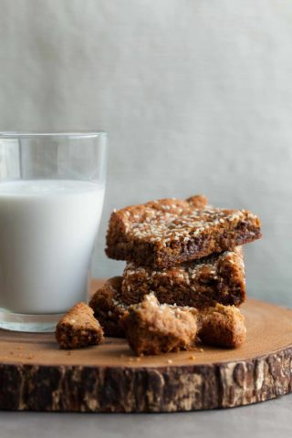Tahini Blondies (Gluten-Free, Paleo)