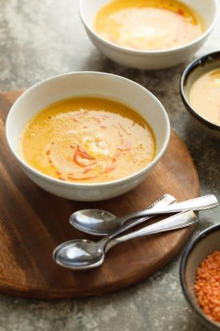Thai Red Lentil Carrot Soup (Vegan)