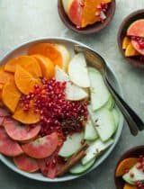 Holiday Fruit Salad with Spiced Vanilla Bean Syrup