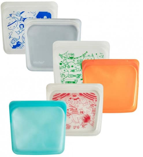 These reusable silicone bags are a more sustainable and safer alternative for snacks on-the-go, packing lunches and storing food.