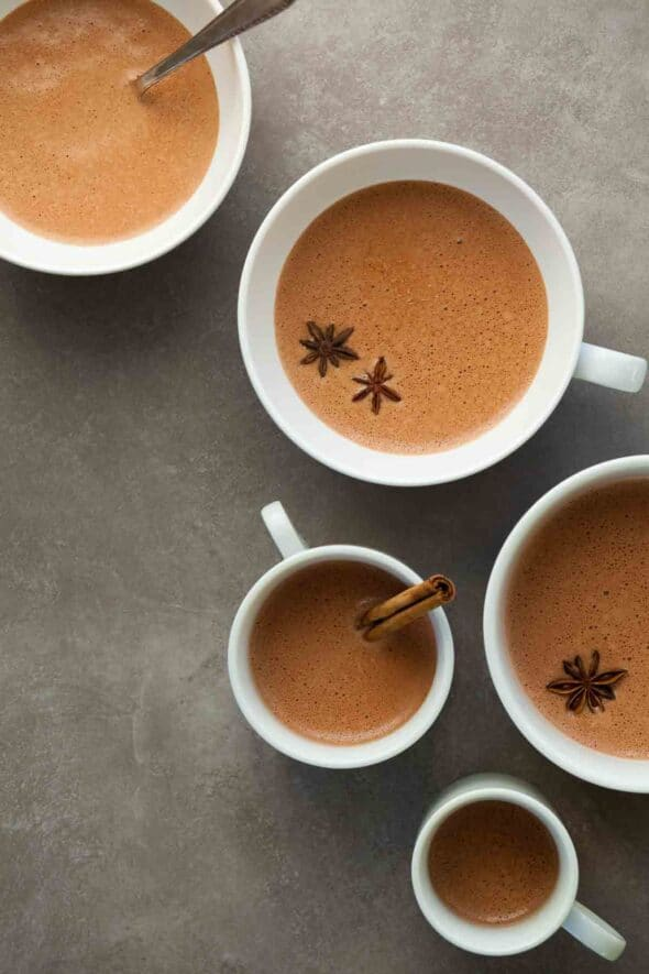 Filled with warming spices this Chinese 5 spice hot chocolate is rich and complex in flavor.