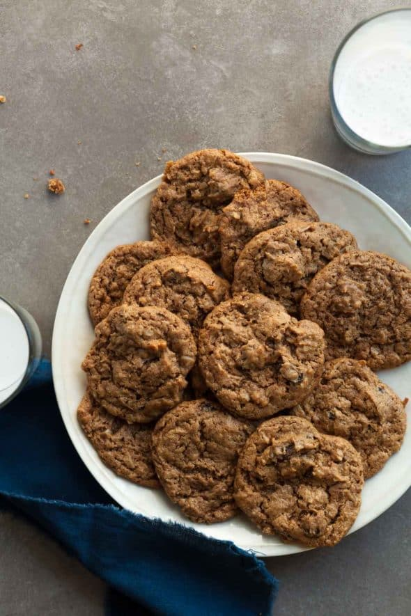 Chai Spice No-Oatmeal Raisin Cookies on Plate