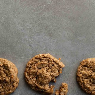 Tender and chock-full of spice and tender raisins, these paleo and vegan no-oatmeal raisin cookies are just as soft and toothsome as the classic but without the grains.