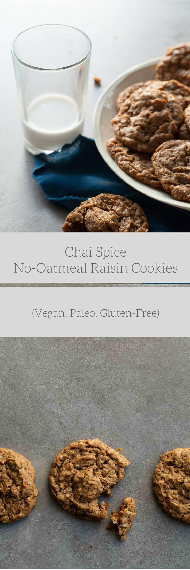 Chai Spice No-Oatmeal Raisin Cookies (Vegan, Paleo ...