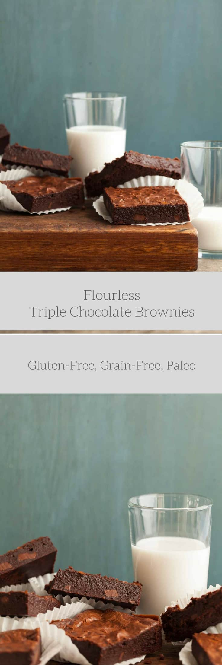 Flourless Triple Chocolate Brownies (Grain-Free, Paleo-Friendly ...