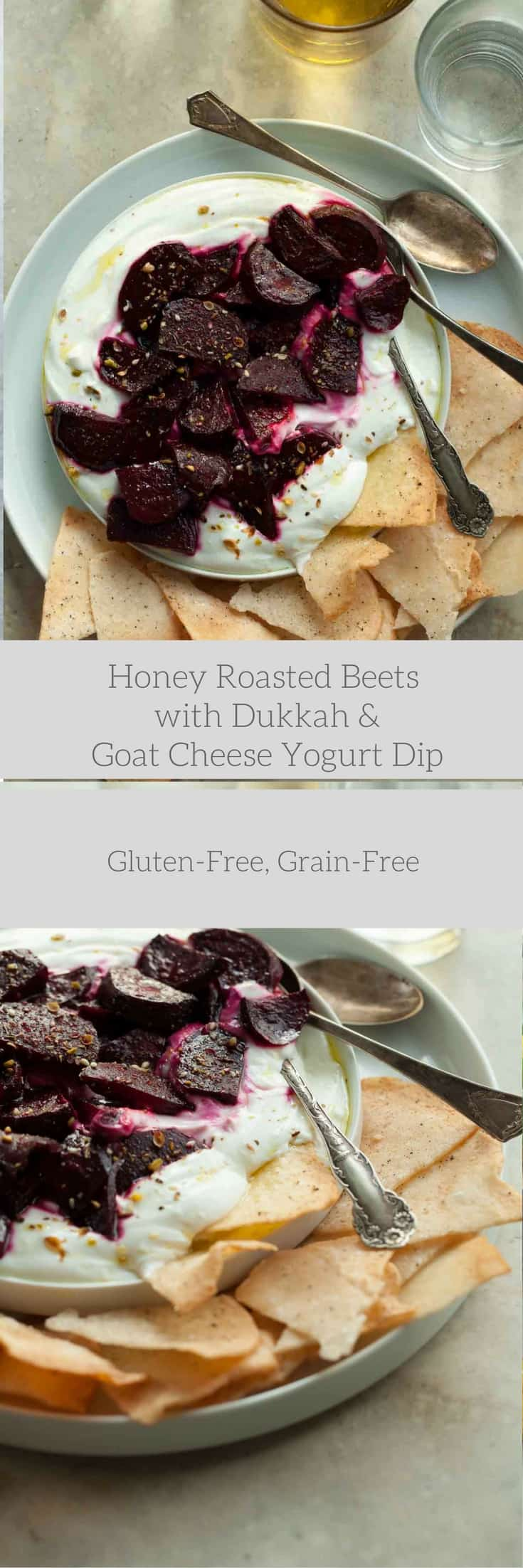 Honey Roasted Beets with Dukkah and Goat Cheese Yogurt Dip | Gourmande ...