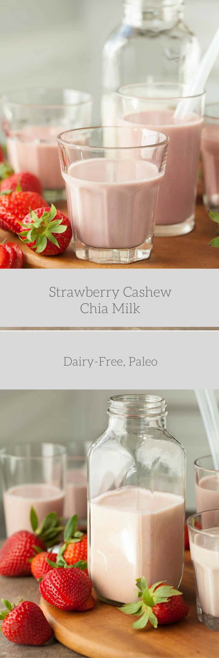 Strawberry Cashew Chia Milk (Dairy-Free, Paleo) | Gourmande in the ...