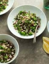French Lentil Tabbouleh Salad (Vegan)