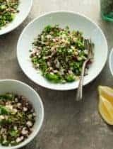 Tabbouleh Style Lentil Radish Salad