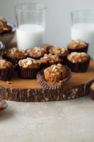Mini Applesauce Carrot Cake Muffins (Gluten-Free, Paleo)