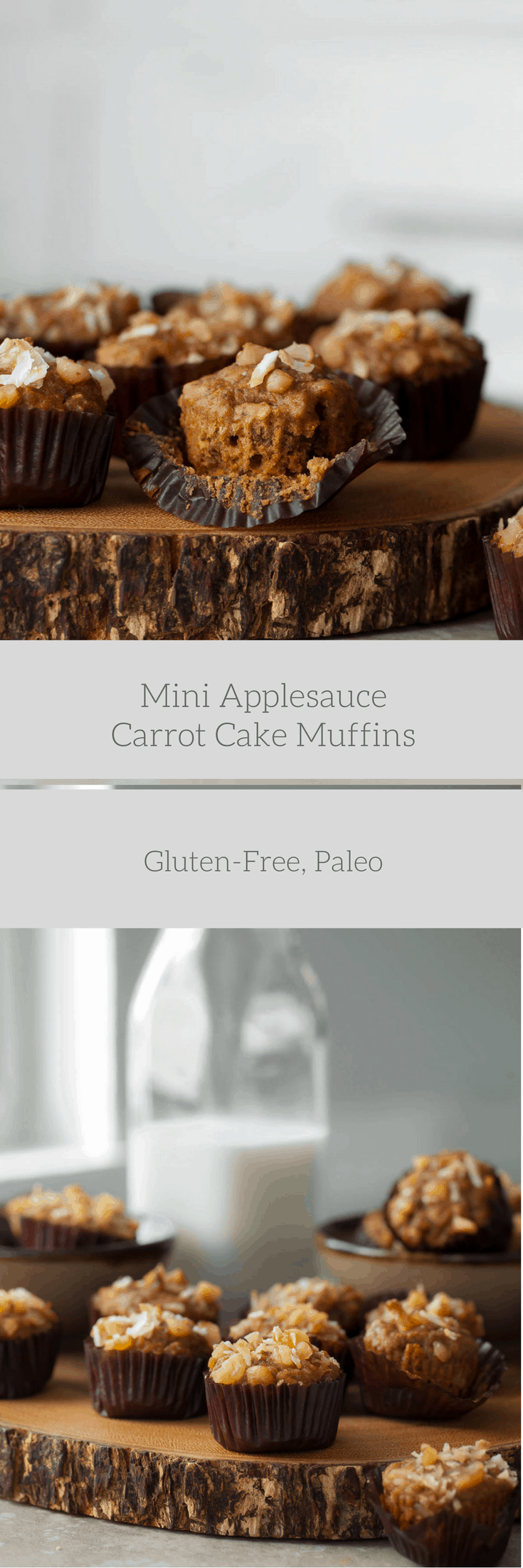 Mini Applesauce Carrot Cake Muffins Gluten Free Paleo Gourmande