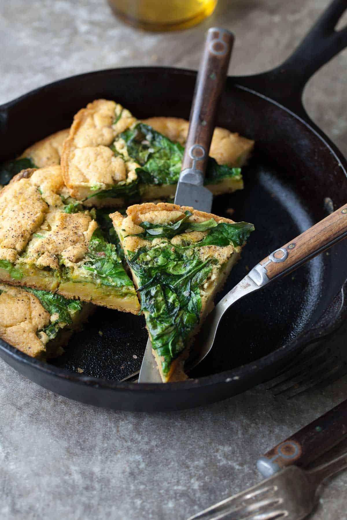 Spinach And Pea Pesto Socca Aka Farinata Gluten Free Vegan