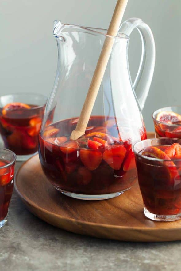 Non-Alcoholic Summer Sangria - This mock sangria filled with strawberries, cherries and plums is just as refreshing and crowd-pleasing as the original.