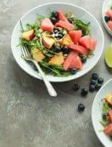 Sweet and Savory Cucumber Summer Fruit Salad (Paleo, Vegan)