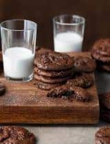 Double Chocolate Cocoa Cookies (Paleo, Vegan)