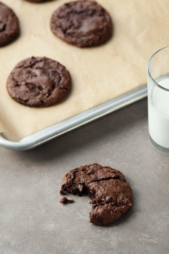 Gluten-Free Double Chocolate Cookies on Sheet Pan