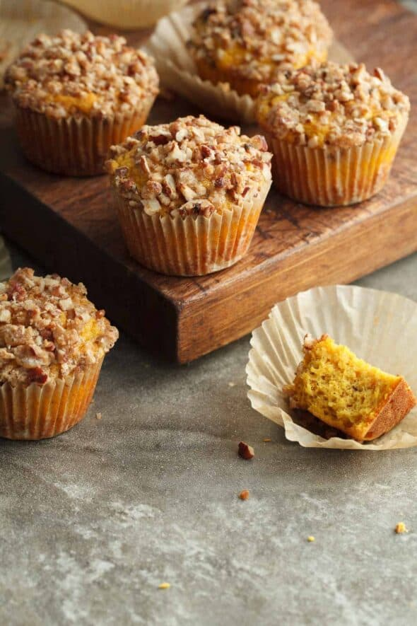 Butternut Pecan Muffins (Gluten-Free, Paleo) - Tender and subtly spiced butternut squash muffins topped with a crisp pecan streusel.