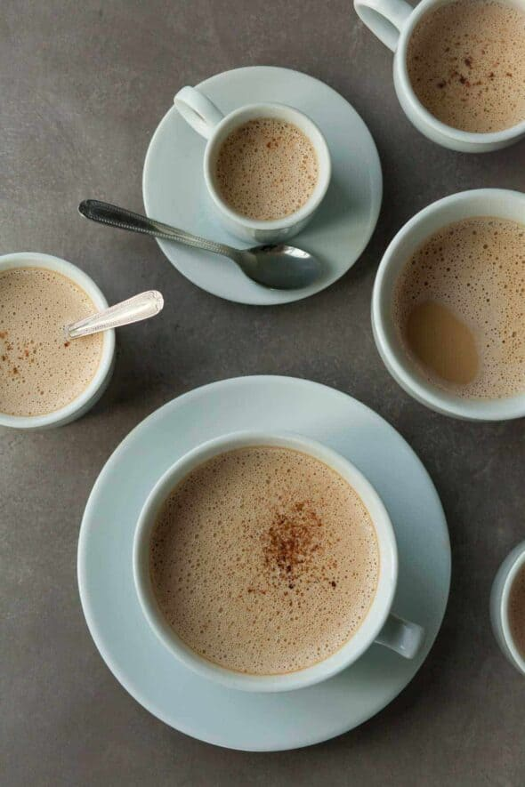Cardamom Spiced Dandelion Root Latte in Cups