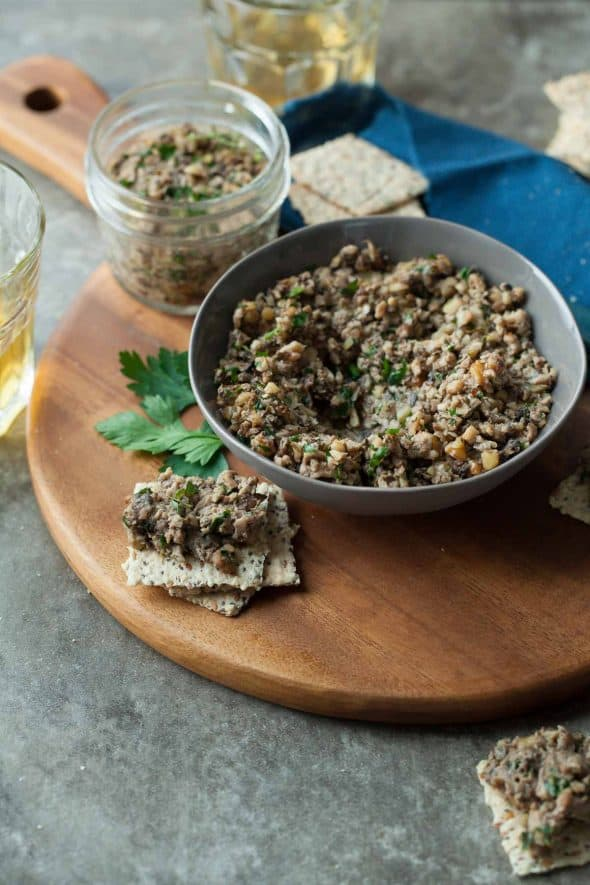 Roasted Mixed Mushroom Pâté (Paleo, Vegan)