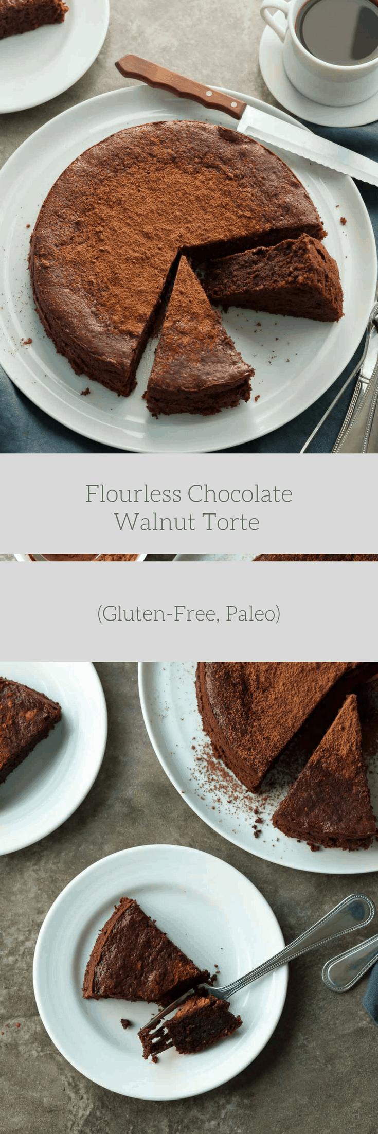 Flourless Chocolate Walnut Cake Recipe