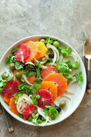 Orange Olive Salad with Fennel (Paleo, Vegan)