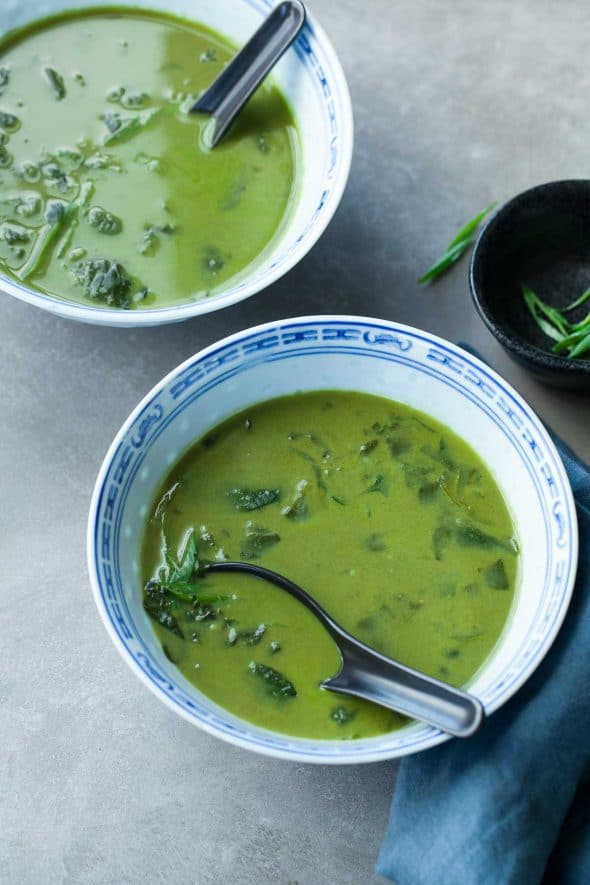 Thai Green Curry Spinach Soup Recipe