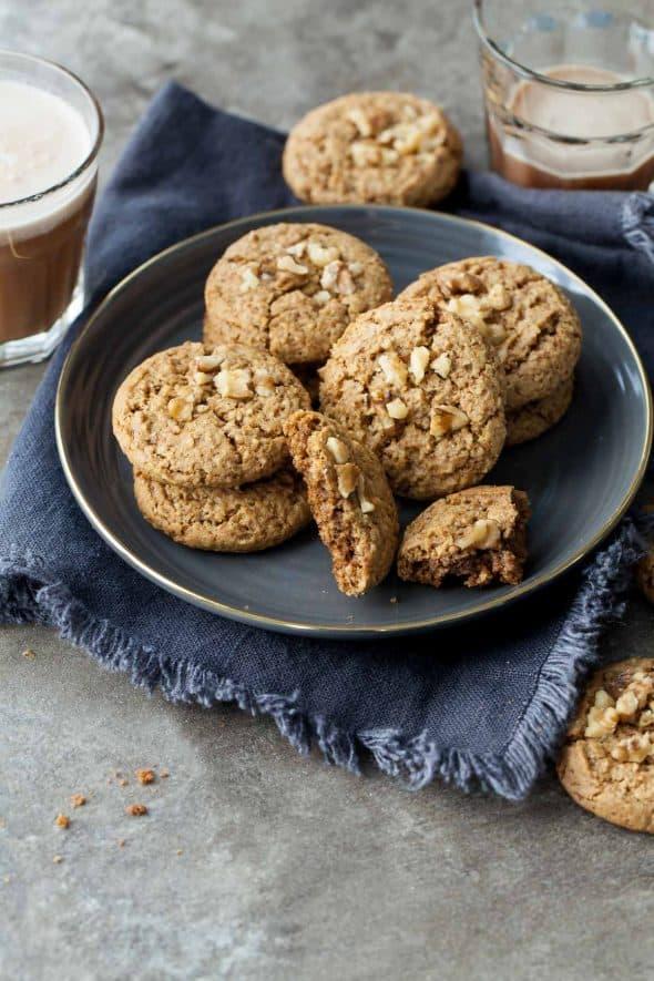 Flourless Walnut Cardamom Cookies (Gluten-Free)