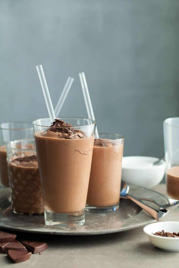 Mexican Frozen Hot Chocolate (Vegan) - A gently spiced Mexican hot chocolate, iced and made slushy-style.
