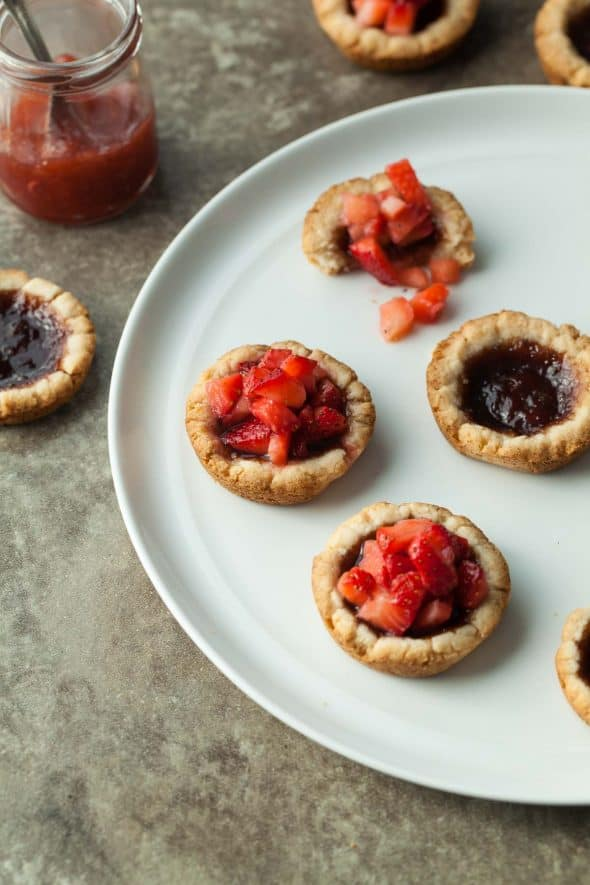 Mini Strawberry Jam Tarts (Gluten-Free)