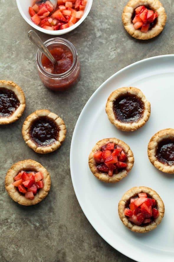 Mini Strawberry Jam Tarts (Vegan)