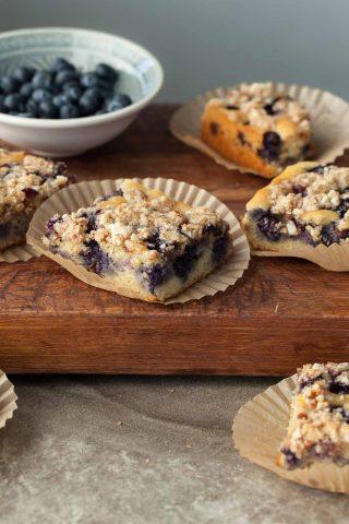 Almond Streusel Paleo Blueberry Coffee Cake (Gluten-Free)