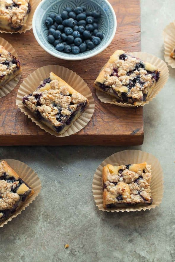 Blueberry Almond Streusel Coffee Cake Recipe
