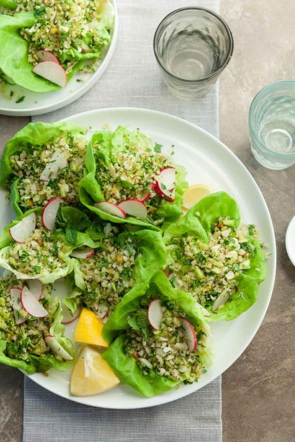 Broccoli Cauliflower Couscous Lettuce Cups Recipe