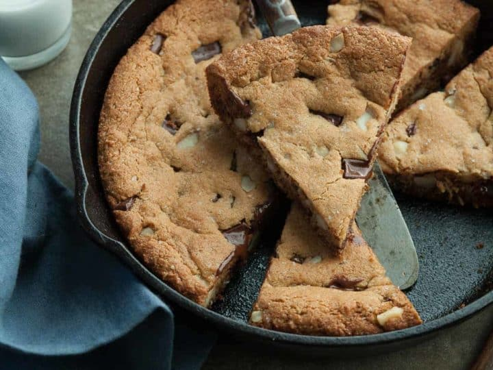 Chocolate Chip Macadamia Skillet Cookie Recipe