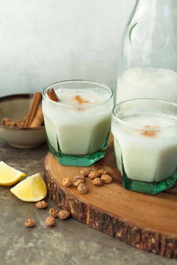 Spanish Style Tigernut Coconut Horchata - This lightly sweet and refreshing tigernut and coconut horchata is the perfect iced drink to serve on a hot summer's day. #paleo #vegan #coconut #tigernut #healthy #recipe