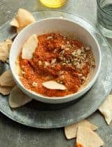 Roasted Red Pepper and Walnut Dip (Paleo, Vegan)