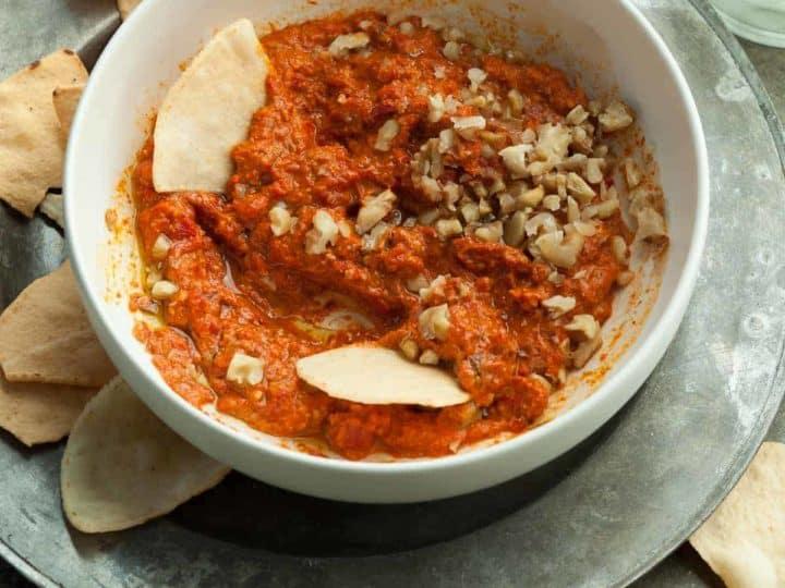 Roasted Red Pepper and Walnut Dip (Muhammara)