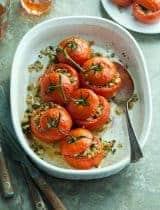 Zucchini Mushroom Stuffed Tomatoes (Paleo, Vegan)
