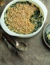 Gluten-Free Creamed Kale Gratin (Paleo, Vegan)