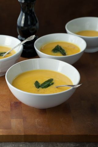 Golden Winter Root Vegetable Soup (Paleo, Vegan)