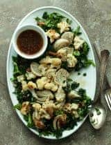 Sesame Roasted Cauliflower and Fennel Salad (Paleo, Vegan)