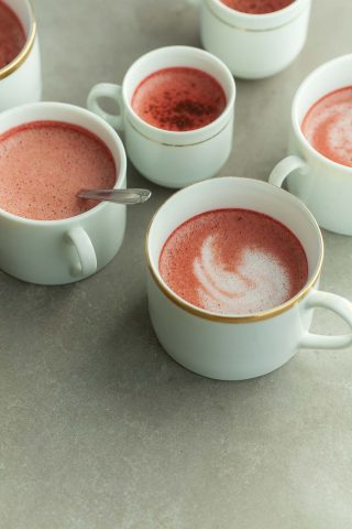 Red Velvet Tea Latte (Paleo, Vegan)