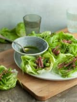 Spring Lettuce Cups with Snap Pea Radish Slaw and Cucumber Noodles