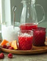 Raspberry Rooibos Grapefruit Iced Tea