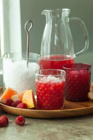 Raspberry Rooibos Grapefruit Iced Tea