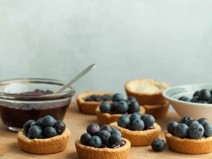 Mini Double Blueberry Tarts (Gluten-Free)