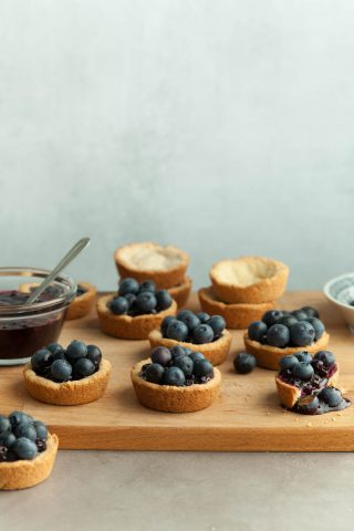 Mini Double Blueberry Tarts (Paleo, Vegan)