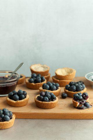 Mini Gluten-Free Blueberry Tarts (Paleo, Vegan)