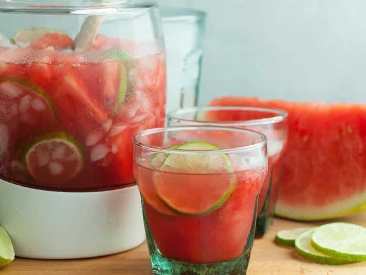 Watermelon Hibiscus Agua Fresca (Naturally Sweetened)