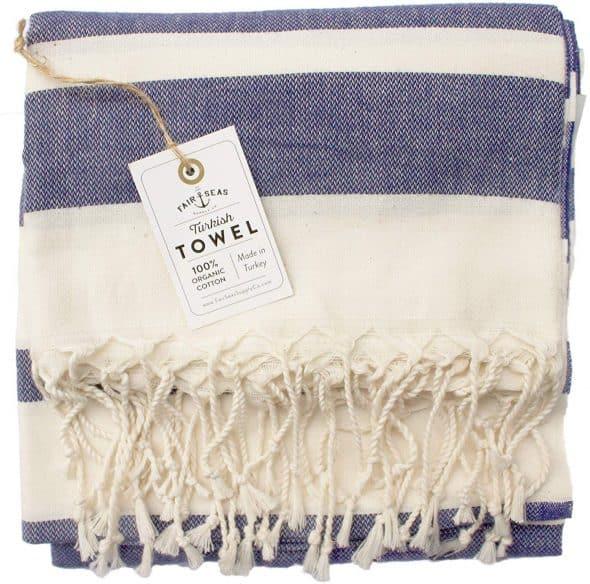 Large Indigo Blue Turkish Towel